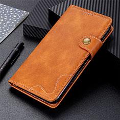 LG K92 5G用手帳型 レザーケース スタンド カバー LG ブラウン