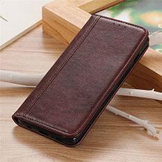 LG K92 5G用手帳型 レザーケース スタンド カバー L01 LG ブラウン