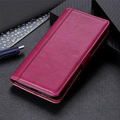 LG K92 5G用手帳型 レザーケース スタンド カバー L04 LG ワインレッド