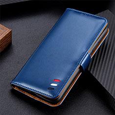 LG K92 5G用手帳型 レザーケース スタンド カバー L06 LG ネイビー