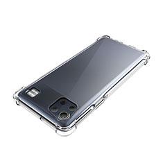 LG K92 5G用極薄ソフトケース シリコンケース 耐衝撃 全面保護 クリア透明 カバー LG クリア