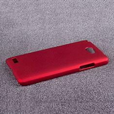 LG L Bello 2用ハードケース プラスチック 質感もマット LG レッド