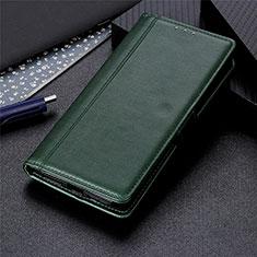 LG Q52用手帳型 レザーケース スタンド カバー L01 LG グリーン