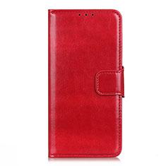 LG Q52用手帳型 レザーケース スタンド カバー L04 LG レッド