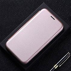 LG Q52用手帳型 レザーケース スタンド カバー L09 LG ローズゴールド