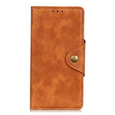 LG Q52用手帳型 レザーケース スタンド カバー L06 LG オレンジ