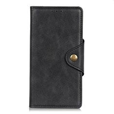 LG Q52用手帳型 レザーケース スタンド カバー L06 LG ブラック