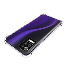 LG Q52用極薄ソフトケース シリコンケース 耐衝撃 全面保護 クリア透明 T02 LG クリア