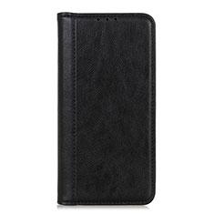 LG Q52用手帳型 レザーケース スタンド カバー L07 LG ブラック