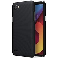LG Q6用ハードケース プラスチック 質感もマット LG ブラック