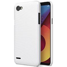 LG Q6用ハードケース プラスチック 質感もマット LG ホワイト