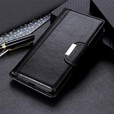 LG Stylo 6用手帳型 レザーケース スタンド カバー L03 LG ブラック
