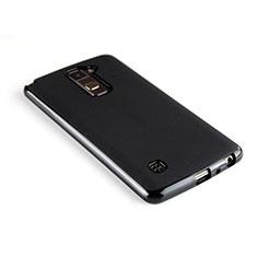 LG Stylus 2 Plus用シリコンケース ソフトタッチラバー LG ブラック