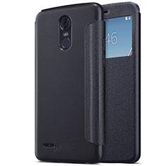 LG Stylus 3用手帳型 レザーケース スタンド LG ブラック