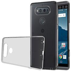 LG V20用極薄ソフトケース シリコンケース 耐衝撃 全面保護 クリア透明 LG グレー