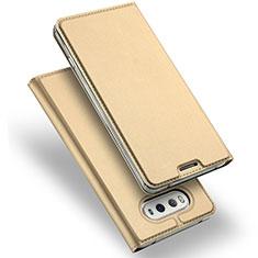 LG V20用手帳型 レザーケース スタンド LG ゴールド