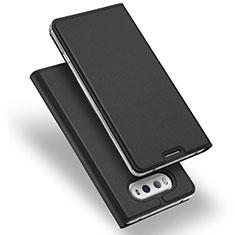 LG V20用手帳型 レザーケース スタンド LG ブラック