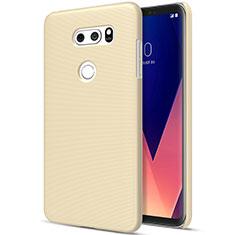 LG V30用ハードケース プラスチック 質感もマット LG ゴールド