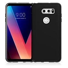 LG V30用極薄ソフトケース シリコンケース 耐衝撃 全面保護 LG ブラック