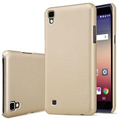 LG X Power用ハードケース プラスチック 質感もマット LG ゴールド