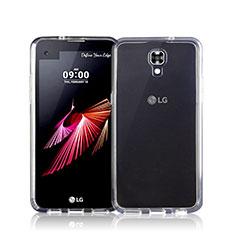 LG X Screen用極薄ソフトケース シリコンケース 耐衝撃 全面保護 クリア透明 LG クリア