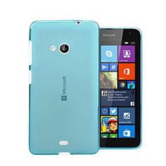 Microsoft Lumia 535用極薄ソフトケース シリコンケース 耐衝撃 全面保護 クリア透明 Microsoft ネイビー