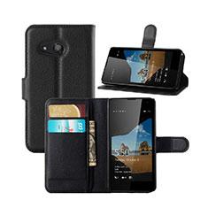 Microsoft Lumia 550用手帳型 レザーケース スタンド Microsoft ブラック