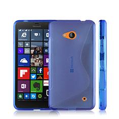 Microsoft Lumia 640用ソフトケース S ライン クリア透明 Microsoft ネイビー