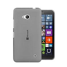 Microsoft Lumia 640用極薄ソフトケース シリコンケース 耐衝撃 全面保護 クリア透明 Microsoft グレー