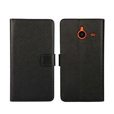 Microsoft Lumia 640 XL Lte用手帳型 レザーケース スタンド Microsoft ブラック