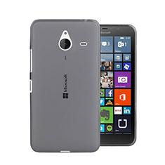 Microsoft Lumia 640 XL Lte用極薄ソフトケース シリコンケース 耐衝撃 全面保護 クリア透明 Microsoft グレー