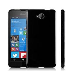 Microsoft Lumia 650用シリコンケース ソフトタッチラバー Microsoft ブラック