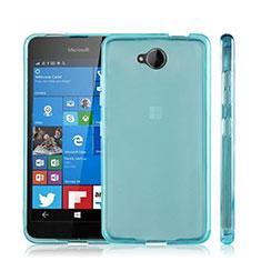 Microsoft Lumia 650用極薄ソフトケース シリコンケース 耐衝撃 全面保護 クリア透明 Microsoft ネイビー