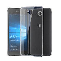 Microsoft Lumia 650用極薄ソフトケース シリコンケース 耐衝撃 全面保護 クリア透明 Microsoft クリア