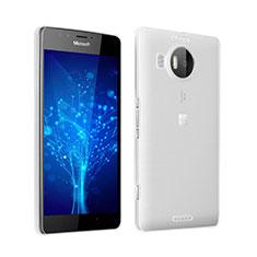 Microsoft Lumia 950 XL用極薄ソフトケース シリコンケース 耐衝撃 全面保護 クリア透明 Microsoft グレー