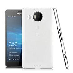 Microsoft Lumia 950 XL用極薄ソフトケース シリコンケース 耐衝撃 全面保護 クリア透明 Microsoft クリア