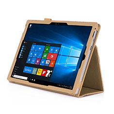Microsoft Surface Pro 3用手帳型 レザーケース スタンド Microsoft ゴールド
