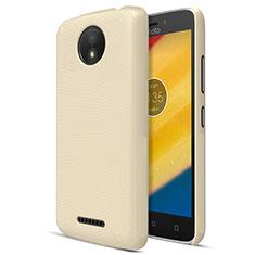 Motorola Moto C Plus用ハードケース プラスチック 質感もマット モトローラ ゴールド
