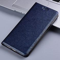 Motorola Moto E7 Plus用手帳型 レザーケース スタンド カバー L03 モトローラ ネイビー