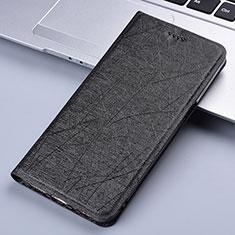 Motorola Moto E7 Plus用手帳型 レザーケース スタンド カバー L03 モトローラ ブラック