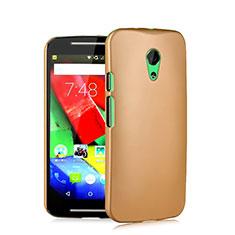Motorola Moto G (2世代)用ハードケース プラスチック 質感もマット モトローラ ゴールド