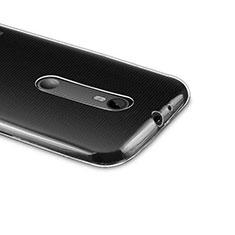 Motorola Moto G (3世代)用極薄ソフトケース シリコンケース 耐衝撃 全面保護 クリア透明 モトローラ クリア