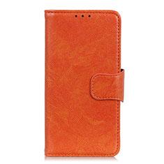 Motorola Moto G 5G用手帳型 レザーケース スタンド カバー L02 モトローラ オレンジ