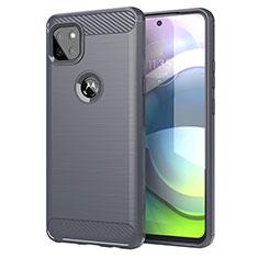 Motorola Moto G 5G用シリコンケース ソフトタッチラバー ライン カバー モトローラ グレー