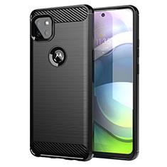 Motorola Moto G 5G用シリコンケース ソフトタッチラバー ライン カバー モトローラ ブラック