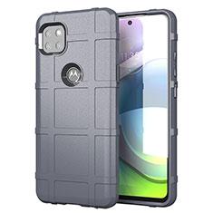 Motorola Moto G 5G用360度 フルカバー極薄ソフトケース シリコンケース 耐衝撃 全面保護 バンパー モトローラ グレー