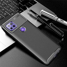 Motorola Moto G 5G用シリコンケース ソフトタッチラバー ツイル カバー S01 モトローラ ブラック