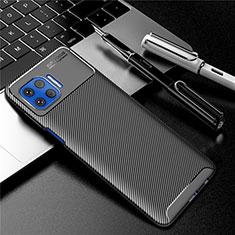 Motorola Moto G 5G Plus用シリコンケース ソフトタッチラバー ツイル カバー モトローラ ブラック