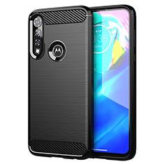 Motorola Moto G Power用シリコンケース ソフトタッチラバー ライン カバー モトローラ ブラック