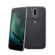 Motorola Moto G4 Plus用極薄ソフトケース シリコンケース 耐衝撃 全面保護 クリア透明 モトローラ クリア